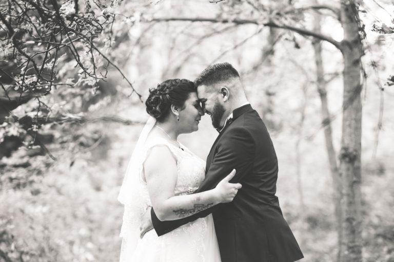 романтична сватбена фотография